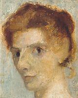 Self portrait, c.1898, modersohnbecker