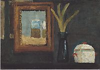 Still life with sugar bowl and hyacinth in a glass, c.1905, modersohnbecker