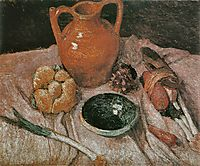 Still life with yellow jug, c.1905, modersohnbecker