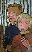 Two Girls in Front of Birch Trees, c.1905, modersohnbecker