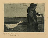 Woman with Goose, 1902, modersohnbecker