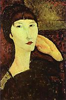 Adrienne (Woman with Bangs), 1917, modigliani
