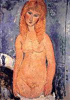 Blonde nude, modigliani