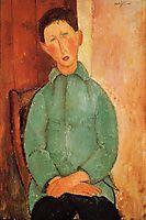 Boy in a Blue Shirt, modigliani