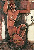 Caryatid, 1911, modigliani