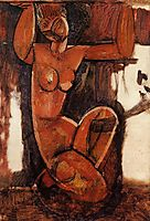 Caryatid, c.1912, modigliani