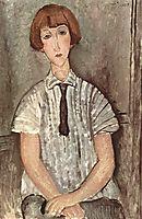Girl in white blouse, 1917, modigliani
