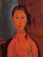 Girl with Pigtails, modigliani