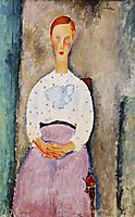 Girl with Polka-Dot Blouse, modigliani