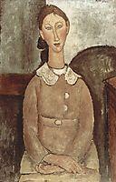 Girl in yellow dress, 1917, modigliani