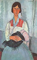 Gypsy Woman with a Baby, modigliani
