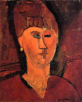 Head of Red-haired Woman, modigliani
