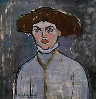 Head of a Young Woman, modigliani