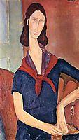 Jeanne Hebuterne (with a scarf), 1919, modigliani