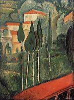 Landscape, Southern France, 1919, modigliani