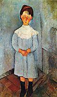 Little girl in blue, 1918, modigliani