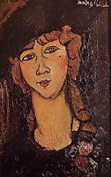 Lolotte (Head of a Woman in a Hat), c.1916, modigliani