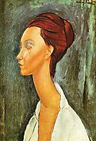 Lunia Czechovska, 1919, modigliani