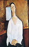 Madame Zborowska with clasped hands, c.1917, modigliani
