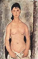 Nude, Elvira, 1918, modigliani
