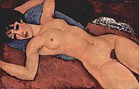 Nude Sdraiato or Red Nude, 1917, modigliani