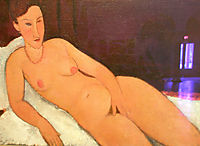 Nude with Coral Necklace, 1917, modigliani