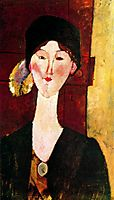 Portrait of Beatrice Hastings before a door, 1915, modigliani
