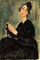 Portrait of Dedie Hayden, 1918, modigliani
