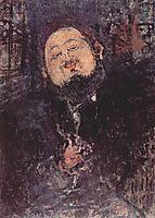 Portrait of Diego Rivera, 1914, modigliani