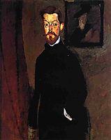 Portrait of Dr. Paul Alexandre, 1909, modigliani