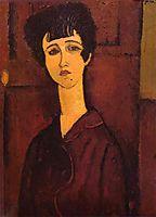 Portrait of a girl (Victoria), 1917, modigliani