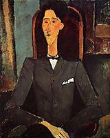 Portrait of Jean Cocteau, 1917, modigliani