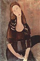 Portrait of Jeanne Hebuterne, 1918, modigliani