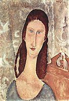 Portrait of Jeanne Hebuterne, 1919, modigliani