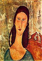 Portrait of Jeanne Hebuterne , 1919, modigliani