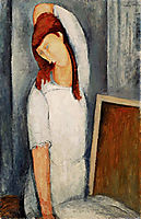 Portrait of Jeanne Hebuterne with her Left Arm Behind her Head, 1919, modigliani