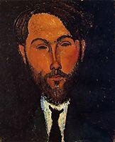 Portrait of Leopold Zborowski, c.1917, modigliani