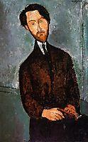 Portrait of Leopold Zborowski, c.1916, modigliani