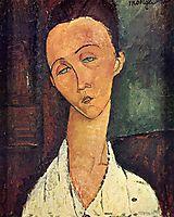 Portrait of Lunia Czechowska, 1918, modigliani