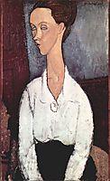 Portrait of Lunia Czechovska, 1917, modigliani