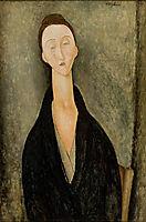 Portrait of Lunia Czechowska,Mrs. Hanka Zborowska, 1918, modigliani