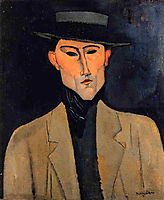 Portrait of a Man with Hat (Jose Pacheco ), c.1915, modigliani
