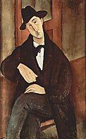 Portrait of Mario Varfogli, 1919, modigliani