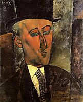 Portrait of Max Jacob, 1916, modigliani
