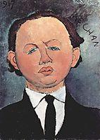 Portrait of Mechan, 1917, modigliani