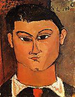 Portrait of Moise Kisling, 1915, modigliani
