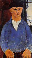 Portrait of Moise Kisling, 1916, modigliani
