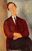 Portrait of Morgan Russell, 1918, modigliani