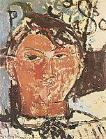 Portrait of Pablo Picasso, 1915, modigliani