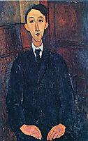 Portrait of the painter Manuel Humbert , 1916, modigliani